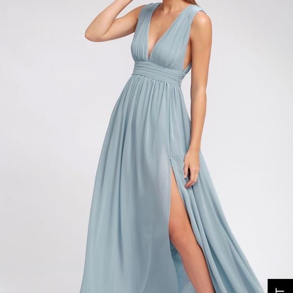 d89cb3694bf0e Lulu's Dresses | Lulus Heavenly Hues Light Blue Maxi Dress | Poshmark